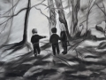 children-in-the-woods-pastel-14-x-22-rs