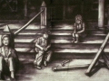 children-on-the-veranda-charcoal-48-x-68