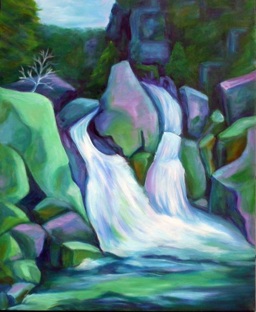 "Bash Bish - oil on canvas - 24"" x 30"""
