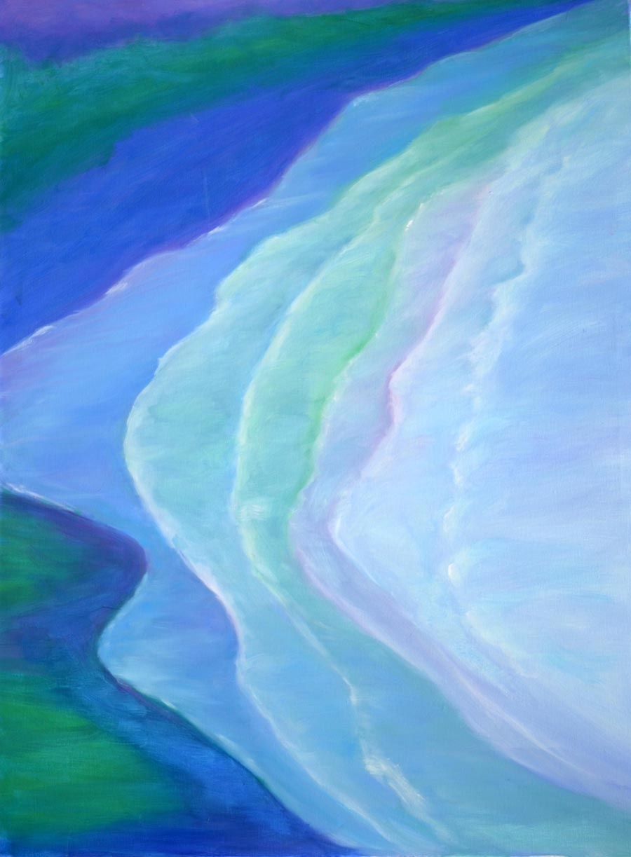 Silent surf - oil on canvas 30 x 40 rs 900