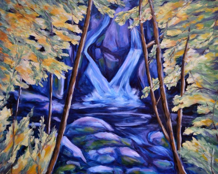 The Falls - oil on canvas 24 x 30