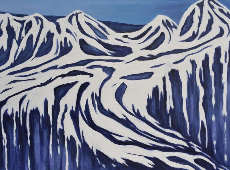 melting glacier - oil on canvas 30 x 40 rs