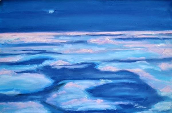 Evening glacier glow - pastel - 11 x 14 rs