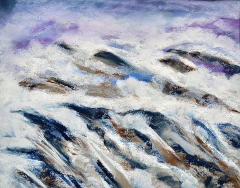 Glacier Mist - 9 x 12 pastel rs