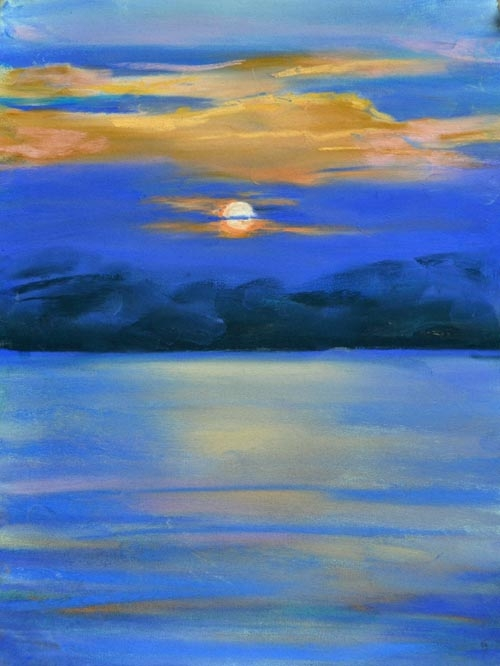 Moon Mystery - pastel 9 x 12 rs